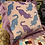 Thumbnail: Psychedelic Tigers Pink Velvet Fringed Cushion