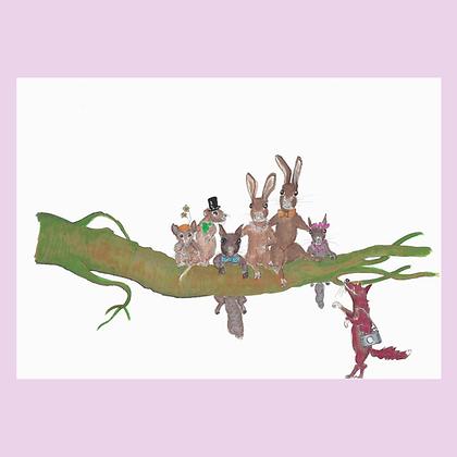 Woodland Family Print