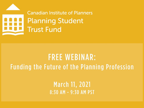 Free Webinar: Funding the Future of the Planning Profession