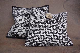 Medallion and Diagonal Cushion