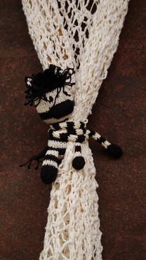 Zebra Curtain Critter - Cotton
