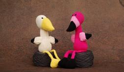 Percy The Flamingo & Freddy The Stock - Cotton