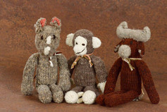 Spider Rhino, Buffalo & Monkey - Handspun Wool