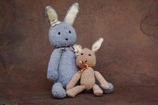 Ditsy Bunny - Handspun Wool