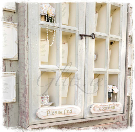 Shabby Chic Table Plan