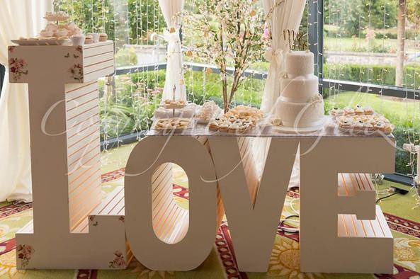 Unique Love Cake Table