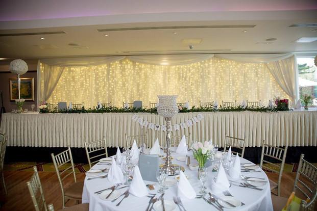 Top Table Fairylight Backdrop