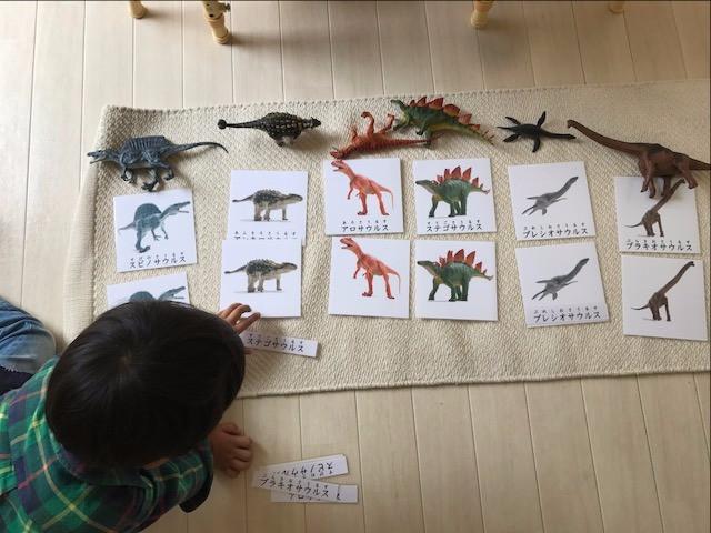 絵合わせカード 恐竜