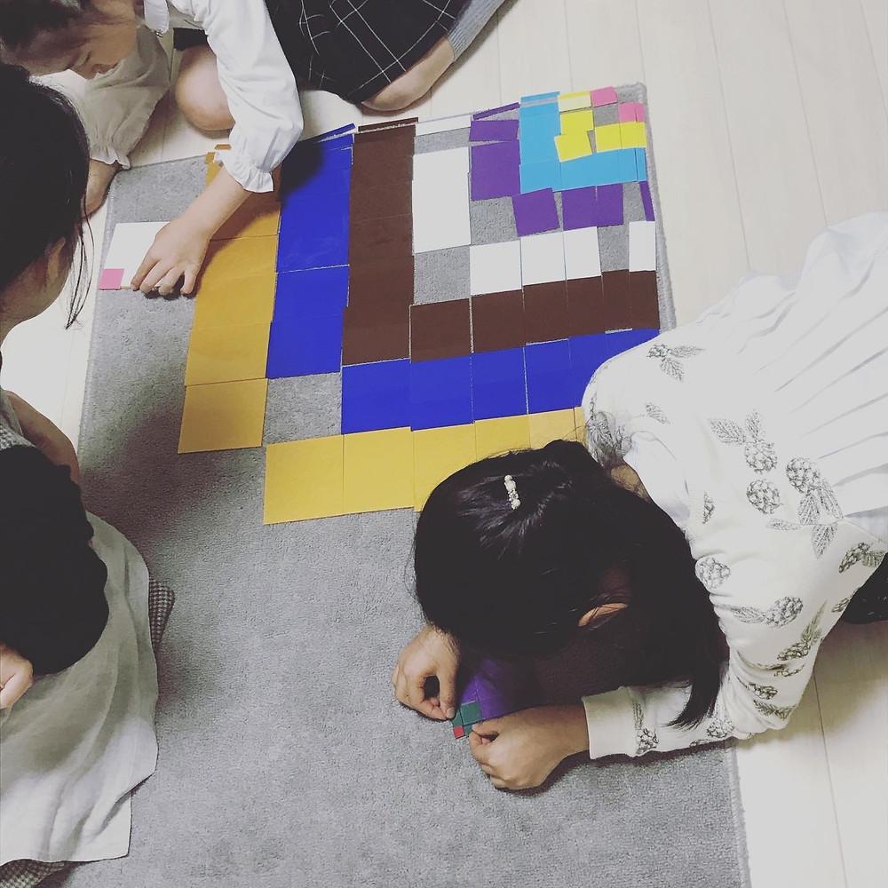 小学生クラス 十項式のカード並べ