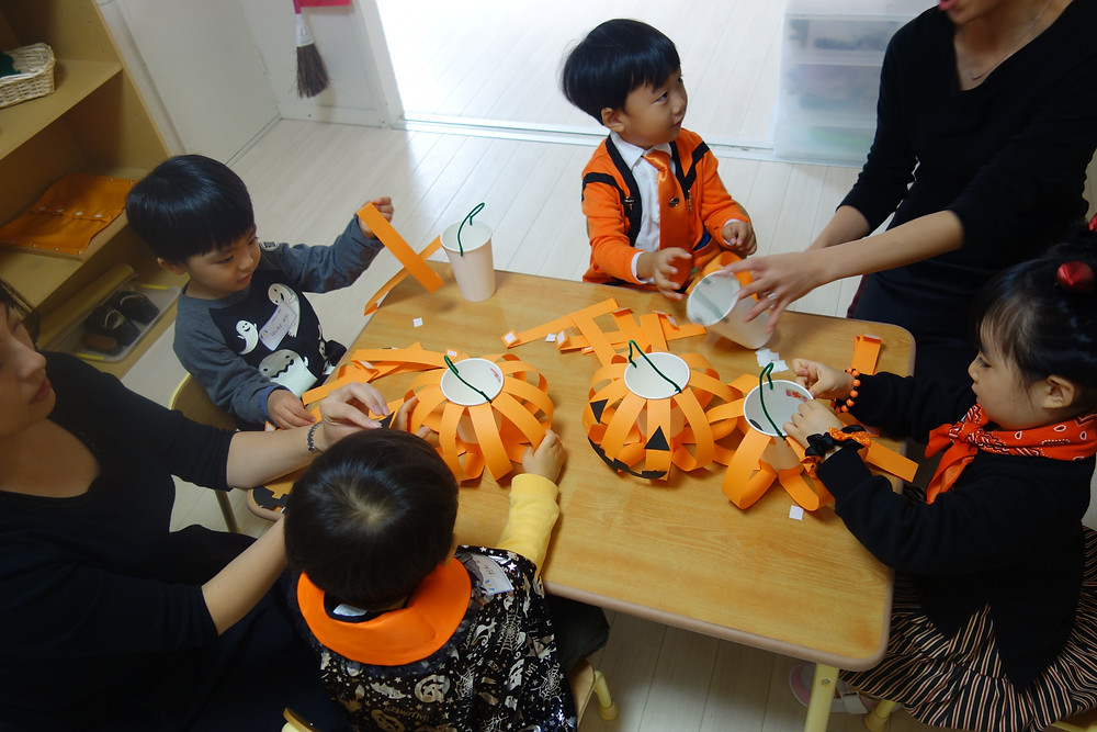 かぼちゃのお菓子入れ ハロウィン