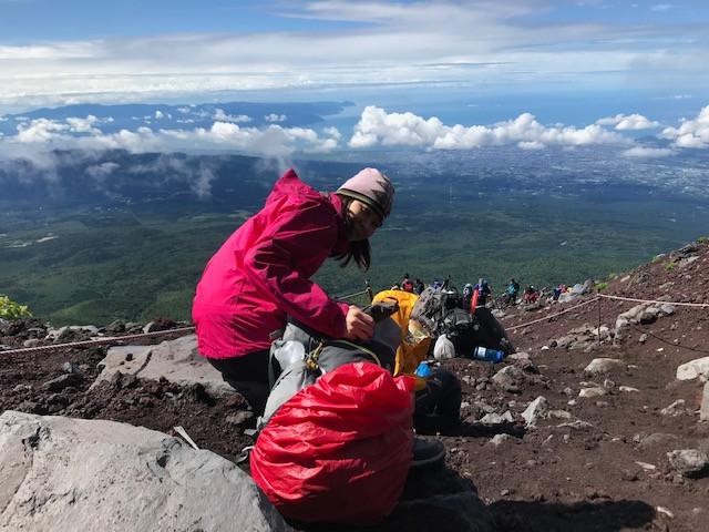 富士登山 山間