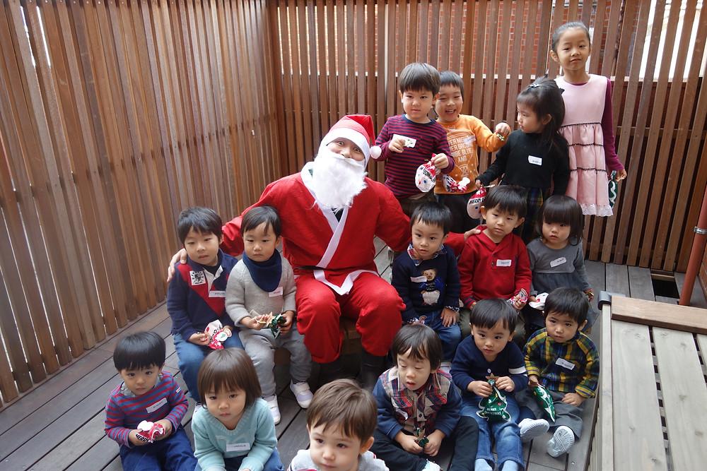 サンタさんと集合写真