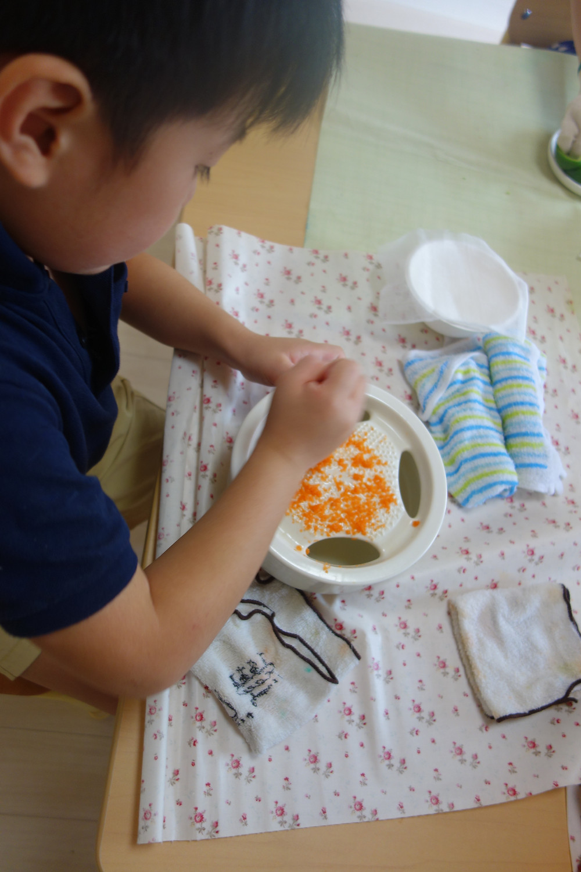 プライマリークラス 野菜 色作り