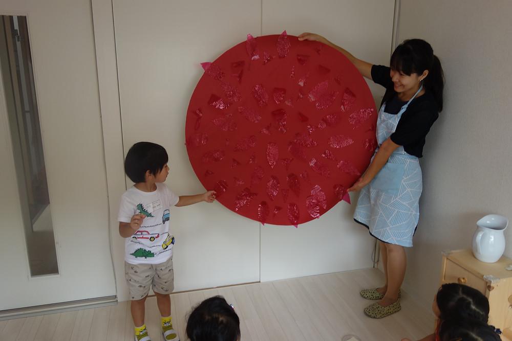 サマースクール プライマリー 太陽の模型
