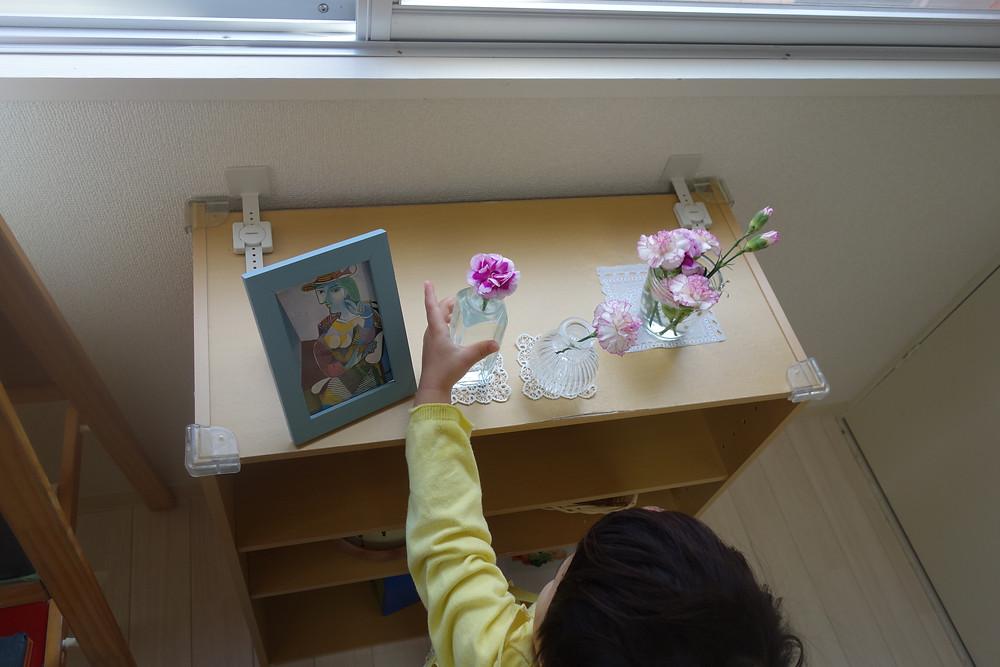 インファント 花の水替え 花瓶を置く