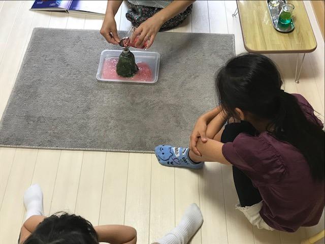 小学生クラス 火山の実験