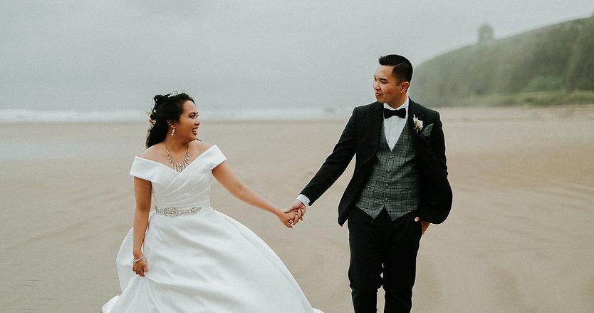Northern Ireland Coastal wedding