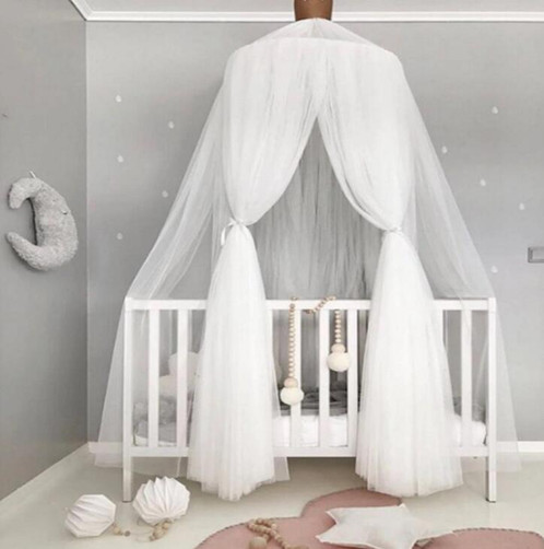 Grey Bed Canopy