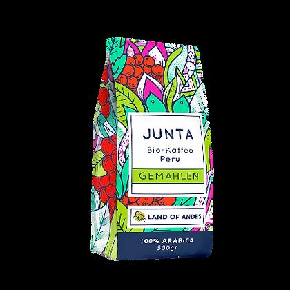 Junta Peru Bio-Kaffee Villa Rica 500 g GEMAHLEN