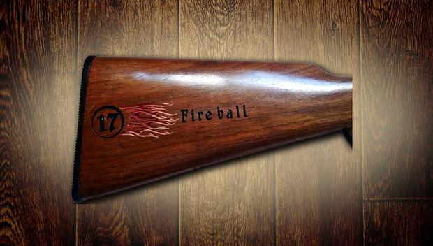 Huckaba Custom carved rifle stock