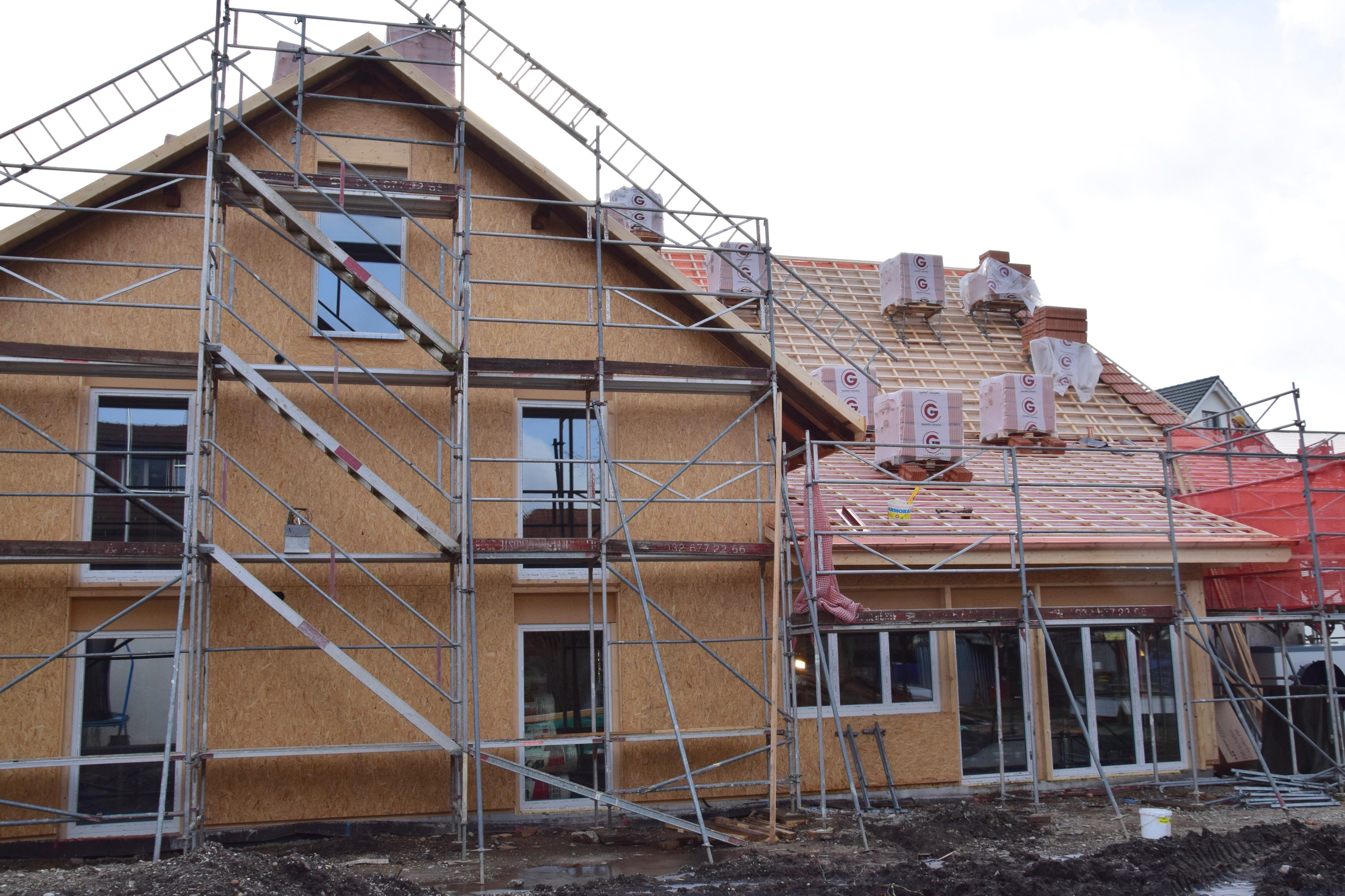 Das Dach wird