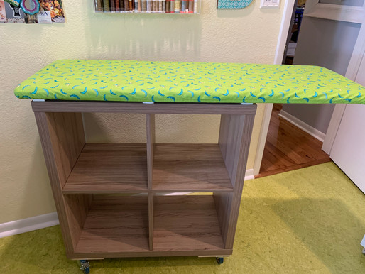 DIY Rolling Ironing Board Station - Organize Your Space
