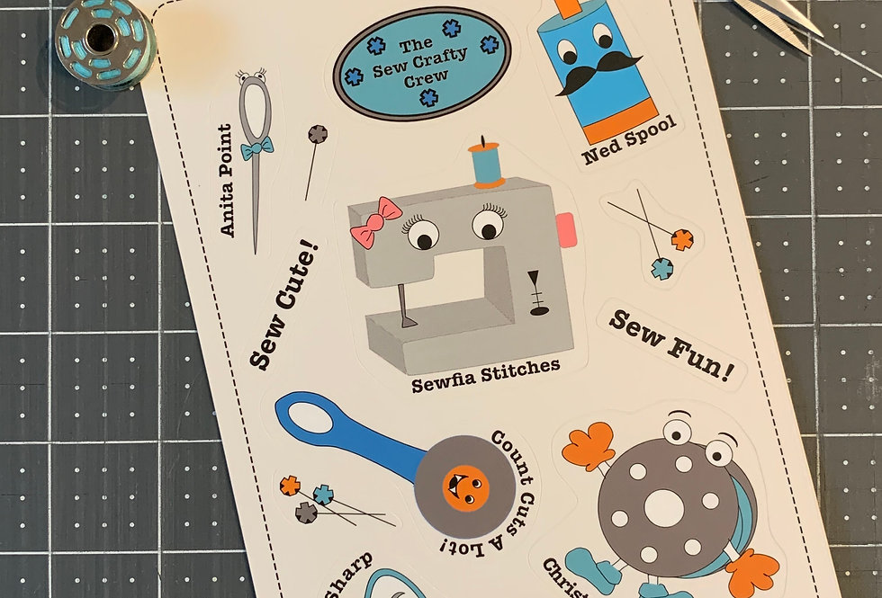 Sewing Stickers - The Sew Crafty Crew