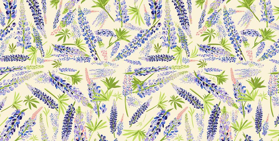 FreeSpirit Calico Horses by Lorraine Turner Lupine Valley Cream Fabric