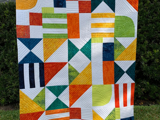 Learn To Use Monofilament Thread And Make A No Show Binding To Form A Scrappy Contemporary Quilt.