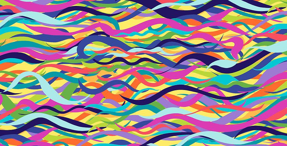 FreeSpirit Calico Horses by Lorraine Turner Flowing Free Multi Fabric