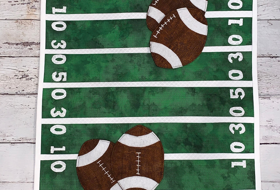 Game Day Table Center Piece and Football Coasters