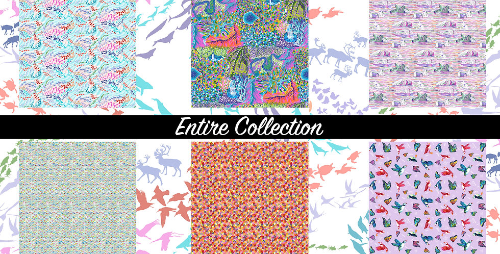 FreeSpirit Migration by Lorraine Turner 12 Fat Quarters Bundle Se