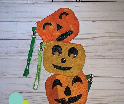 Hello Pumpkin Zippy Pouch PDF Sewing Pattern