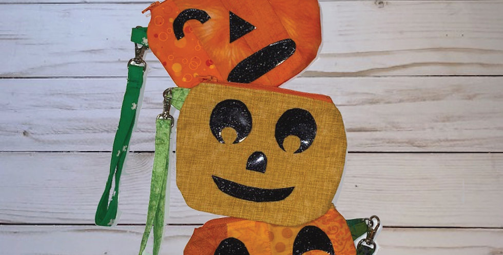 Hello Pumpkin Zippy Pouch PDF Sewing Pattern
