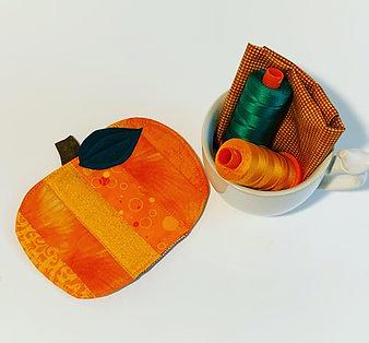 Pumpkin Mug Rug PDF Sewing Pattern