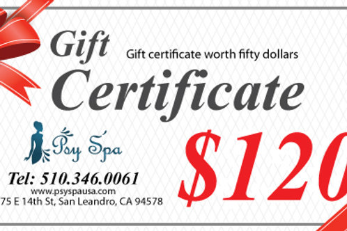 $120.00 Gift Certificate