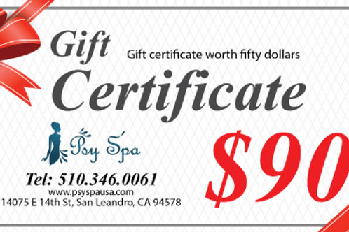 $90.00 Gift Certificate