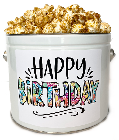 1/2 Gallon Popcorn Tin!🎂
