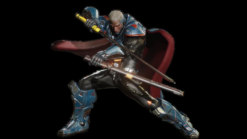 Gatling Hero stance.png