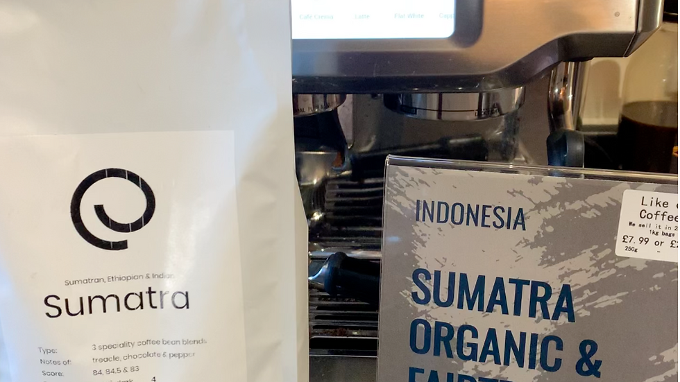 1kg Sumatra Organic & Fair-trade Coffee Beans