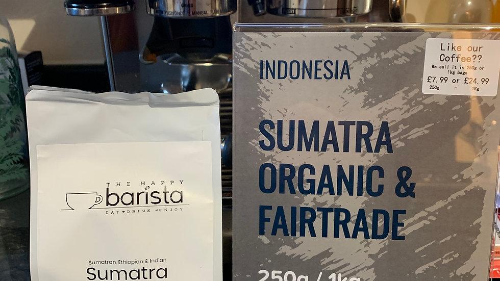 250g Sumatra Organic & Fair-trade Coffee Beans