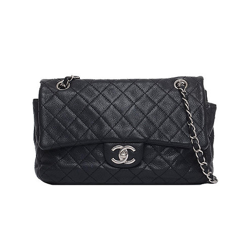 CHANEL Caviar Leather Seasonal Flap Bag