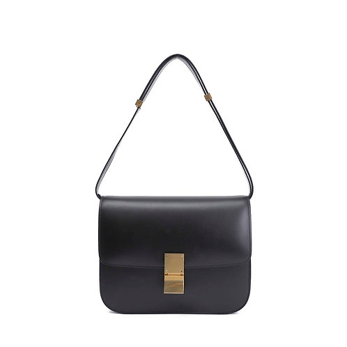 CELINE Calf Leather Medium Classic Box Bag
