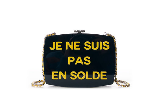 CHANEL 2015 Je Ne Suis Pas En Solde 5x5 Crossbody Bag