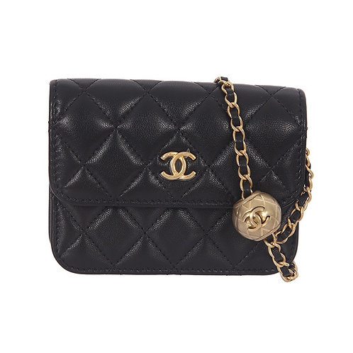 CHANEL Gold Pearl Crush Belt Bag
