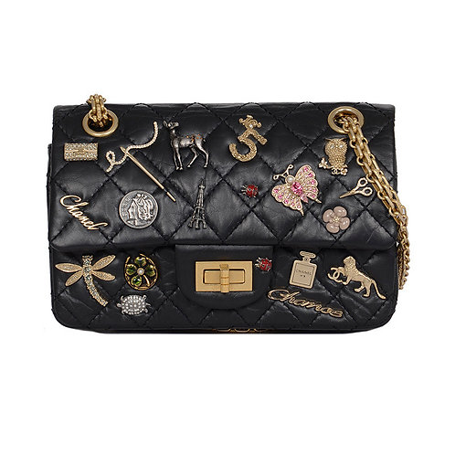 CHANEL Lucky Charms 2.55 Black Reissue 224