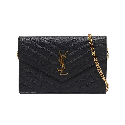 SAINT LAURENT Envelope Wallet On Chain