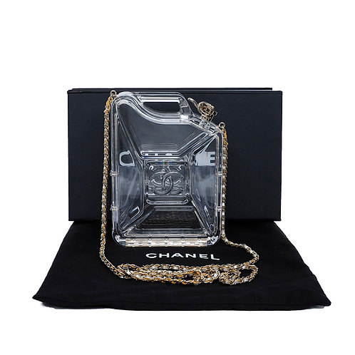 CHANEL Clear Plexiglas Dubai by Night Gas Can Evening Bag