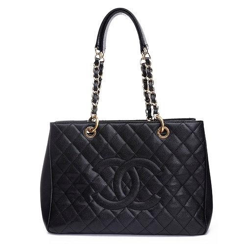 CHANEL Black Caviar Leather GST Tote