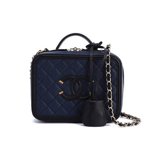 CHANEL CC Filigree Small Vanity Case Small Bag